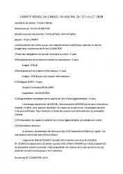 2-compte-rendu municipal 2020.07.27