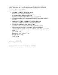 COMPTE RENDU DU CONSEIL MUNICIPAL DU 06 DECEMBRE 2019